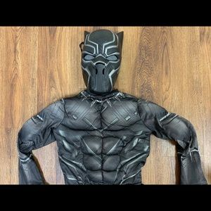 Black Panther size 4-6 costume kids boys small